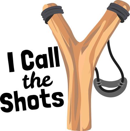 slingshot: Illustrations of slingshot Illustration