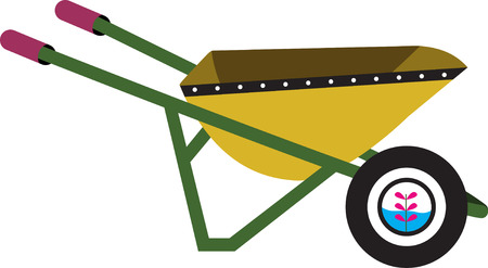 wheelbarrow: Yellow wheelbarrow