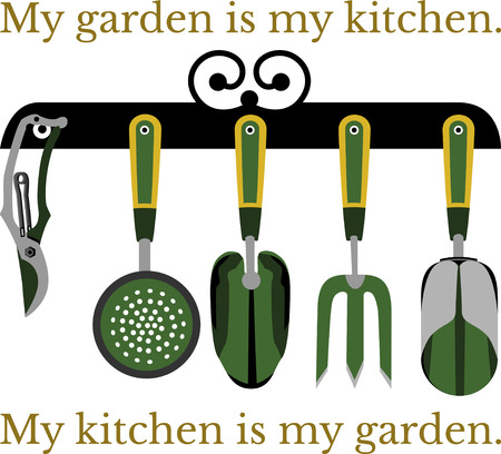 rakes: Spark your imagination!  This whimsical design will be perfect on gardening aprons, t-shirts and more.