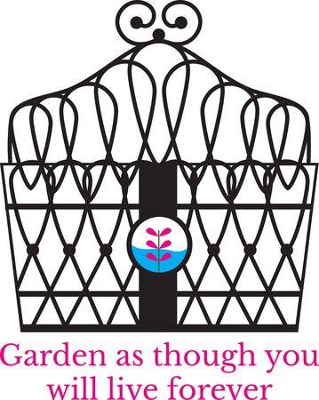 Vonk je verbeelding! Dit capricieuze ontwerp zal perfect zijn op tuinieren schorten, t-shirts en meer.