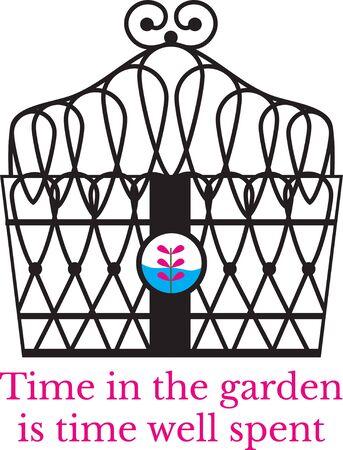 Vonk uw verbeelding! Dit capricieuze ontwerp zal perfect zijn over tuinieren schorten, t-shirts en meer. Stock Illustratie