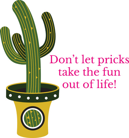 Cactus in a pot 向量圖像