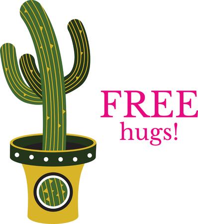 flowerpots: Cactus in a pot Illustration