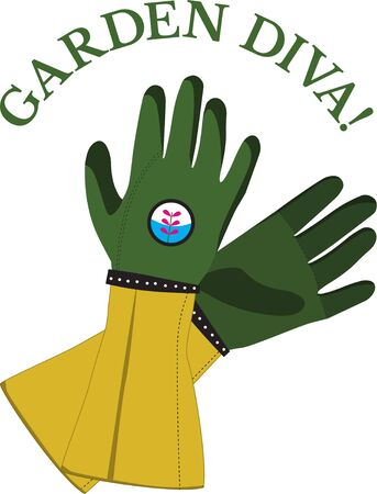 Got green thumb  This design will be perfect on gardening aprons, t-shirts and more. Ilustração