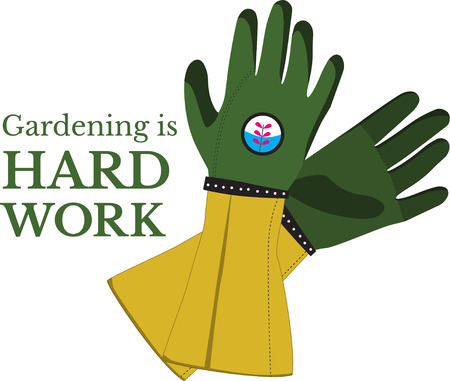 green thumb: Got green thumb  This design will be perfect on gardening aprons, t-shirts and more. Illustration