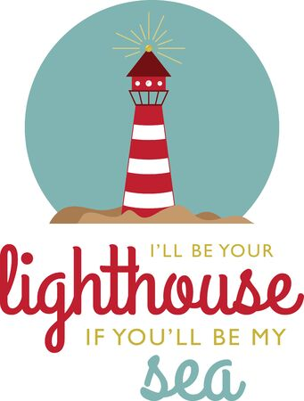 nautical structure: Illustrations of a light house Illustration