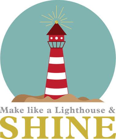 Illustrationen von einem Leuchtturm Standard-Bild - 42867079