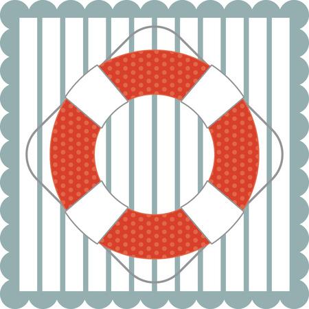 flotation: Illustrations of a lifebuoy