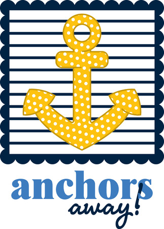 mooring anchor: Illustrations of a sailor design