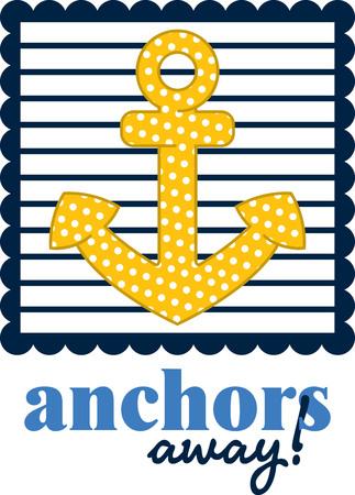 mooring: Illustrations of a sailor design
