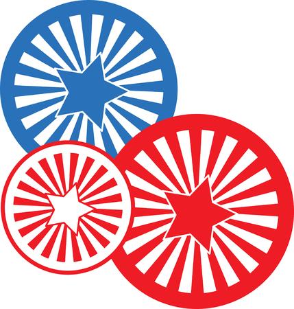 holiday celebrations: Illustrations of pattern wheel Illustration