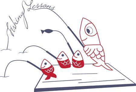 cute design for fishing Ilustração