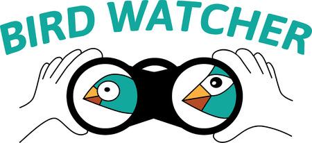 Vogels kijken met spionage glas
