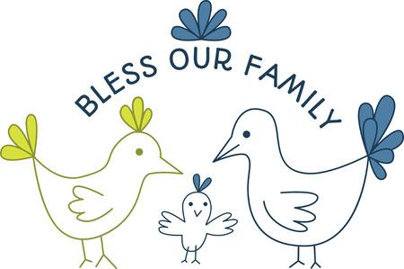 chicken family: Illustrations of a chicken family Illustration