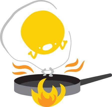 Egg on the pan Illustration