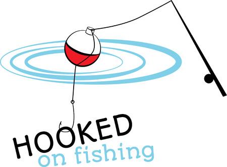 bobber: Fishing rod and bobber