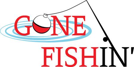 fishing bobber: Fishing rod and bobber