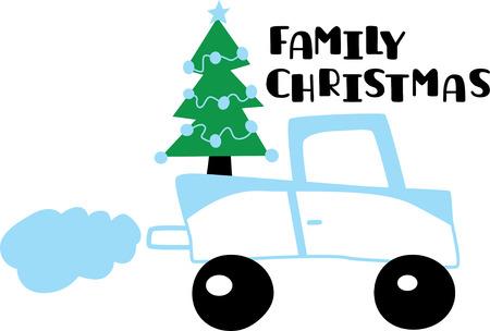 Christmas tree on a lorry Reklamní fotografie - 42879779