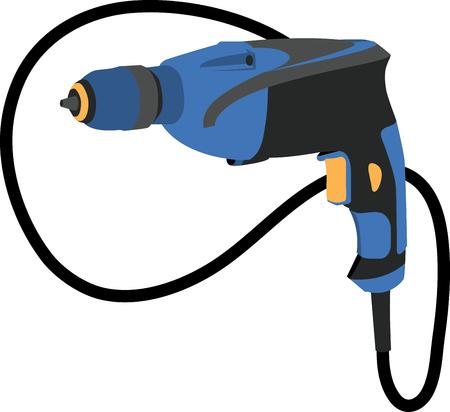 taladro electrico: Taladro el?ctrico Vectores