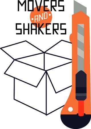 box cutter: Box cutter Illustration