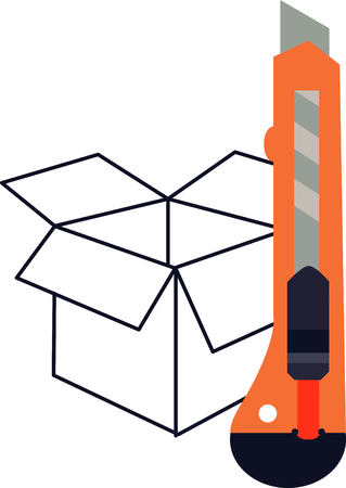 Box cutter Illustration
