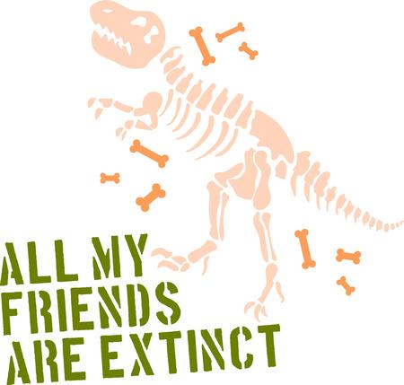 dinosaurusskelet Stock Illustratie