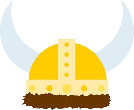 ひもとバイキングのヘルメットは、シャツなどの強力な飾りを作ります。 あなたのプロジェクトに創造的な取得し、北欧のタッチを追加!  イラスト・ベクター素材