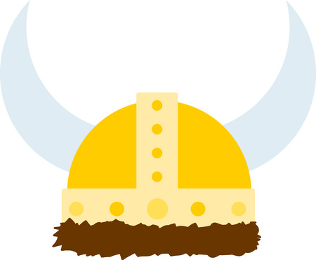 Viking helmets with braids make powerful decorations on shirts and more.  Get creative on your projects and add a Nordic touch!