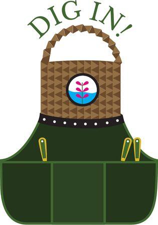 pinafore: Gardening apron