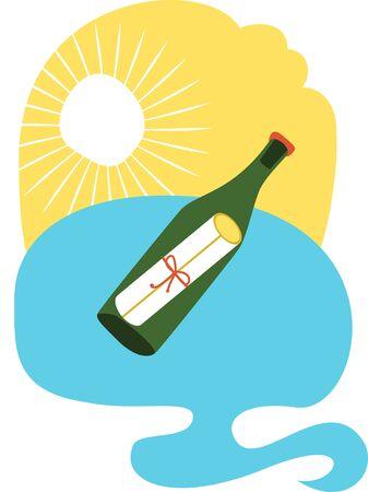 Ontwerp met liefdesbrief in wijnfles Stockfoto - 42843066