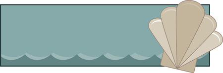 Banner with pretty sea shell, perfect for beach project.
