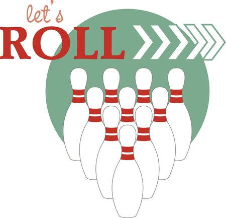 Simple design of bowling. Sports fans will love this design on a t-shirt. Illustration