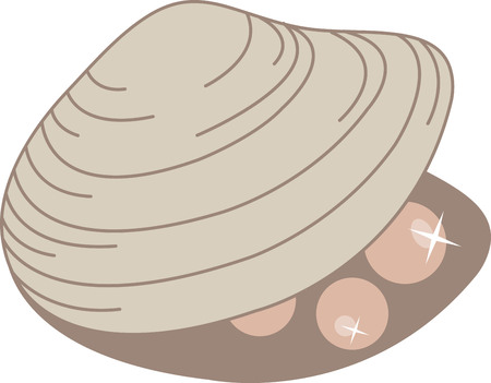 A pretty sea shell is perfect for a beach project. Illustration