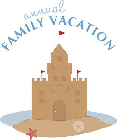chateau de sable: A pretty sand castle is perfect for a beach project.