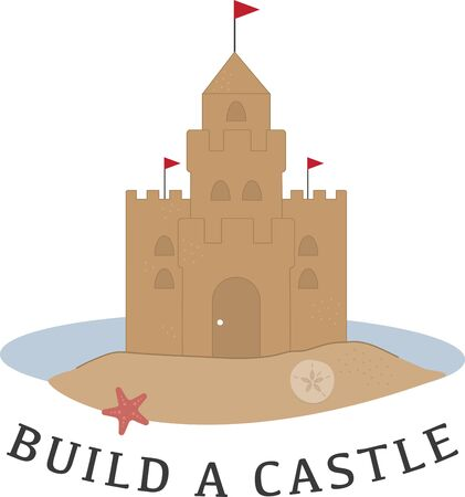 castle sand: A pretty sand castle is perfect for a beach project.