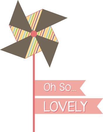 Pinwheel and ribbon
