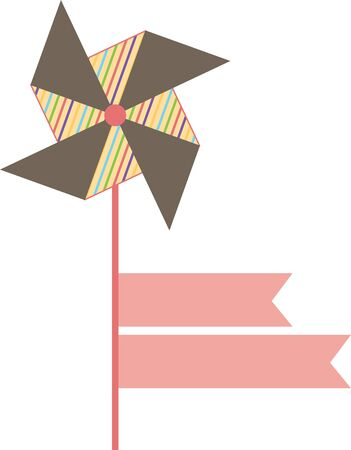 pinwheel: Pinwheel and ribbon