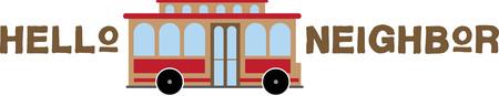 neighbor: trolley car