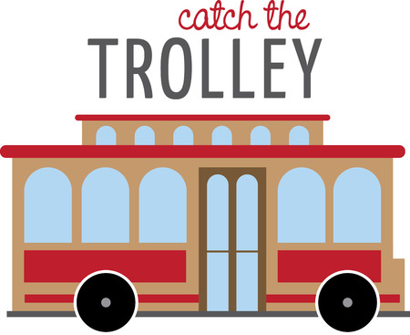 trolley car.
