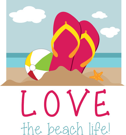 flipflop: A pair of sandals with beautiful beach scene