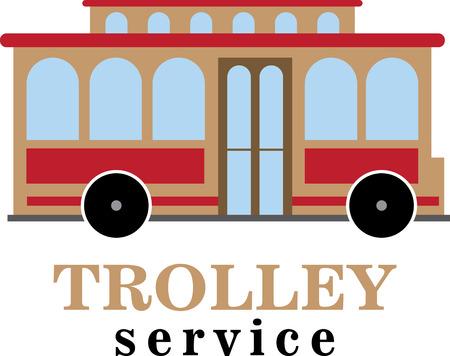 trolley car.