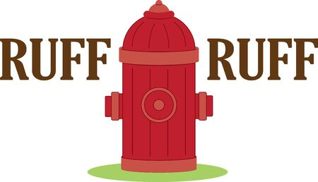 Fire hydrant. A fireman will love this design on a shirt or hat.
