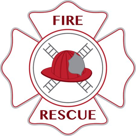 Helmet of firefighter. A fireman will love this design on a shirt or hat.