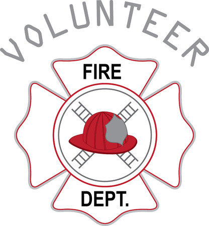 dept: Helmet of firefighter. A fireman will love this design on a shirt or hat.