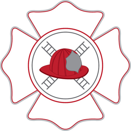 A fireman will love this design on a shirt or hat.