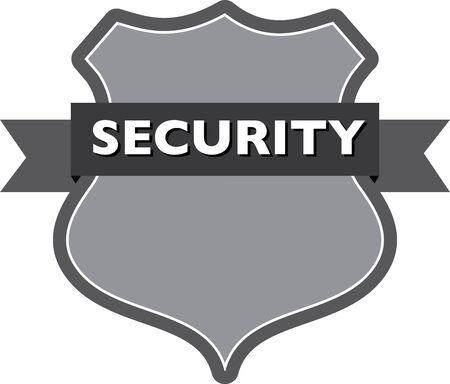 patrolman: security badge Illustration