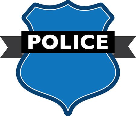 patrolman: Badge of police Illustration