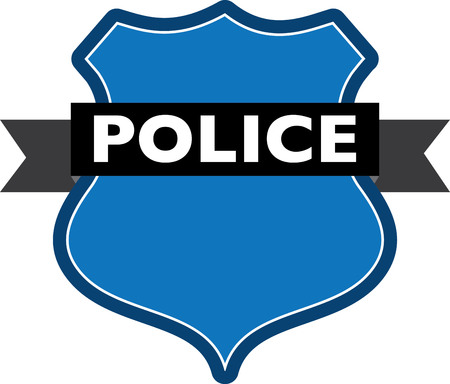 Badge of police Illustration