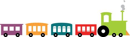 Colourful train Ilustração