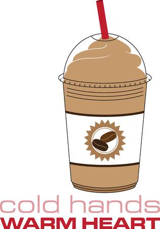 あなたの台所装飾のアイス コーヒーを持っています。  イラスト・ベクター素材